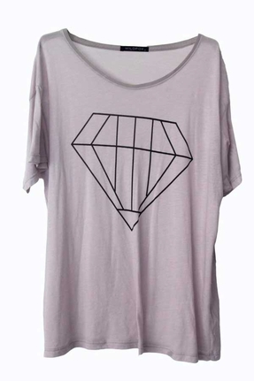 Wildfox Big Diamond Over-Sized Tee in Diamond