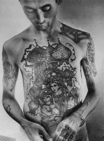 Tagged black & white, Russian Criminal Tattoo, Tattoos, viciouslycyd